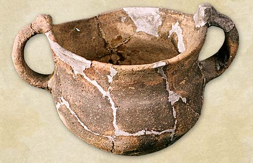 9.Vessel with handles, the Coslogeni culture - Bronze Age