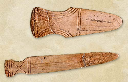 33. Bone daggers, the Late Cucuteni-Tripolye culture  - Aeneolithic Age