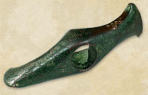 32.Copper axe, the Late Cucuteni-Tripolye culture  - Aeneolithic Age