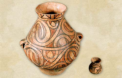 23.Painted vessels, the Middle Cucuteni-Tripolye culture - Aeneolithic Age