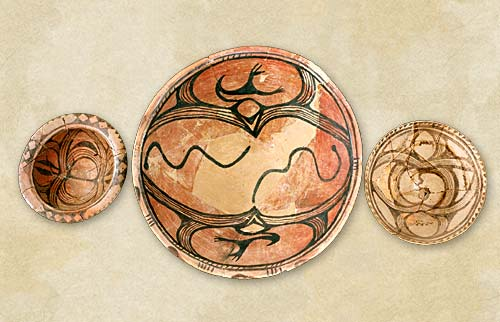 22. Painted dishes and bowls, the Late Cucuteni-Tripolye culture - Aeneolithic Age